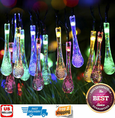 Outdoor Solar Powered 30 LED String Light Garden Patio Yard Landscape Lamp Party - Outdoor Party String Lights