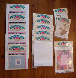 New Scrapbooking Stuff - 5 Albums with Paper to Fit - & Extras