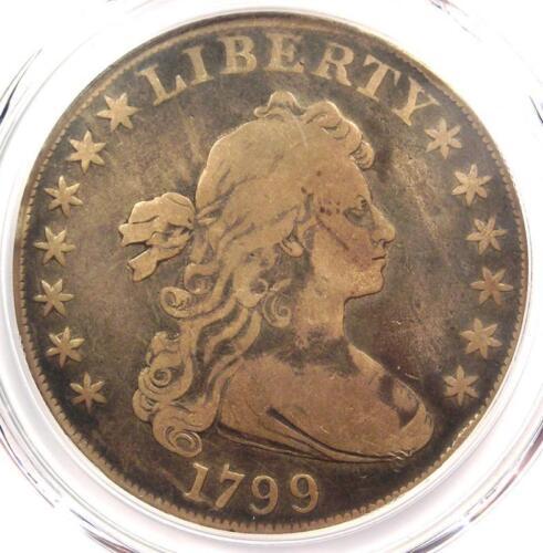 1799 Draped Bust Silver Dollar $1 Coin BB-161 B-11 - PCGS Fine Detail - Rare!