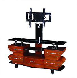 "UNIVERSAL TV STAND WITH BRACKET FOR 32"" - 65"" + GLASS TV STAND"