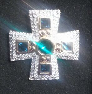 REDUCED...SWAROVSKI MALTESE CROSS STYLE BROOCH North Shore Greater Vancouver Area image 2