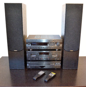Yamaha Hifi Tower with 2 high definition speakers