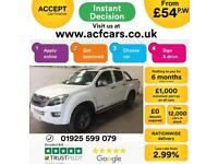 2014 WHITE ISUZU D MAX 2.5 TD BLADE 4X4 CREW CAB PICK UP CAR FINANCE FR 54 PW