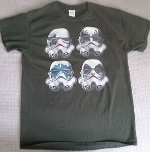 Stormtrooper / KISS tshirt, forest green