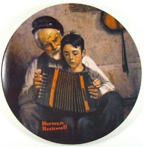 """Norman Rockwell Heritage Collection """"The Music Maker"""" Fine China"""