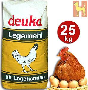 25 kg Deuka Legemehl Mehl Eier Legehennen Geflügelfutter Hühnerfutter Legefutter