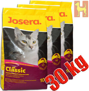 3x10 kg Josera Classic Katzenfutter Leckeres Menü mit exquisitem Lachs Sojafrei