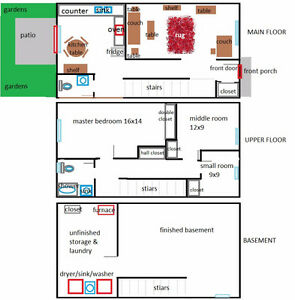 2 tidy roomates seek 3rd for sm BR in a LG townhouse. Park 4free London Ontario image 4