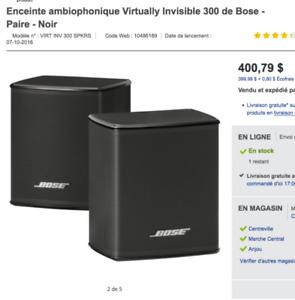 new bose virtually invisible 300 speaker neufs enceintes