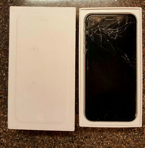 BELL iPhone 6 16GB w/cracked screen Space Grey