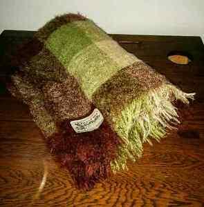 Vintage GLEN CREE Scotland 100% Mohair Plaid Throw Blanket Kitchener / Waterloo Kitchener Area image 2