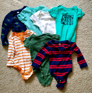 Large lot of brand name baby boy clothes