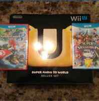 Wii u w/ games and controllers