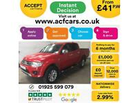 2015 RED MITSUBISHI L200 2.5 DI-D CHALLENGER 4WD CREW CAB CAR FINANCE FR 41 PW