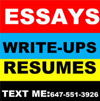 ESSAYS/ RESUMES/COVER LETTERS