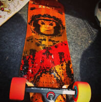 Lost longboard (late August, southern Manitoba)