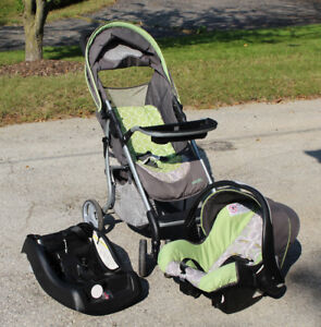 Evenflo Travel System:  Stroller, Car Seat, and Base