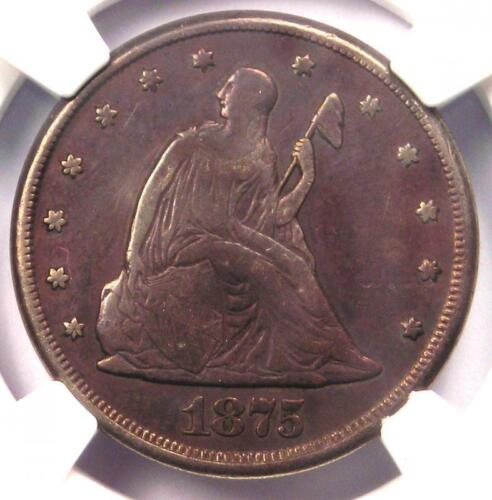 1875-CC Twenty Cent Piece 20C - Certified NGC VF Detail - Rare Carson City Coin!