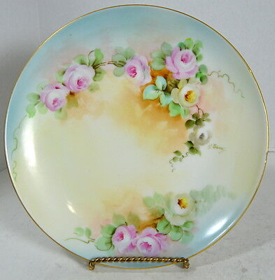 GINORI Vintage Hand Painted Italy Floral Plate