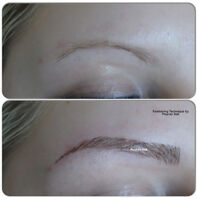 Fixing Bad shaped Eyebrow Tattoos -and Colour Correction