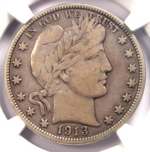 1913 Barber Half Dollar 50C (1913-P) - NGC F12 - Rare Date - Certified Coin!