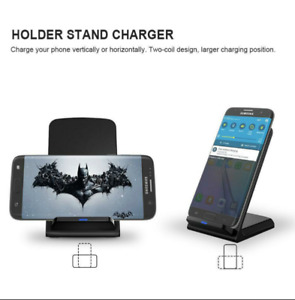 Wireless Charger Pad Stand 10W for iPhone X 8+ Samsung S6/S7/S8