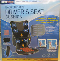 Obusforme Drivers Back Massage Car Cushion Retail $99.99