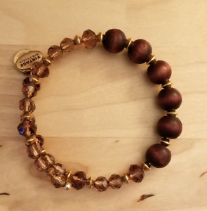 Alex and Ani gold and maroon bracelet