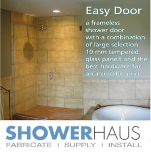 Frameless  Glass  Shower Enclosure - door + Panel from $ 382.00