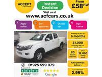2015 WHITE ISUZU D MAX 2.5 TD EIGER 4X4 CREW CAB PICK UP CAR FINANCE FR 58 PW