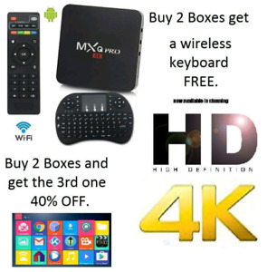 Android Smart TV Boxes with Free IPTV &Custom Programming