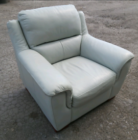 Chair - Quality Extra Comfy Soft Grey Leather Chair