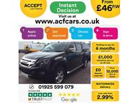 2013 BLACK ISUZU D MAX 2.5 TD YUKON 4X4 CREW CAB PICK UP CAR FINANCE FR 46 PW