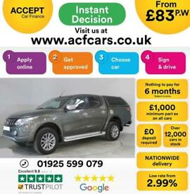 2017 GREEN MITSUBISHI L200 2.4 DI-D BARBARIAN 4WD CREW CAB CAR FINANCE FR 83 PW