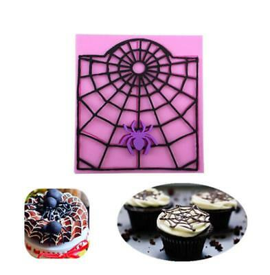 Halloween Spider Web Silicone Fondant Mould Cake Decor Tool Chocolate Mold DB](Halloween Spider Web Cake)