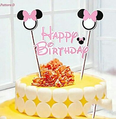 Minnie mouse Birthday Cake Topper Decoration Party Supplies. (Birthday Cake Supplies)