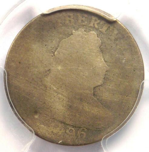 1796 Draped Bust Dime 10C - Certified PCGS Fair Details - First Dime Minted!