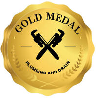 PLUMBER-Gold Medal Plumbing and Drain  416-639-1821