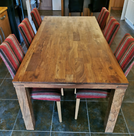 John Lewis dining table & 6 Next high back chairs