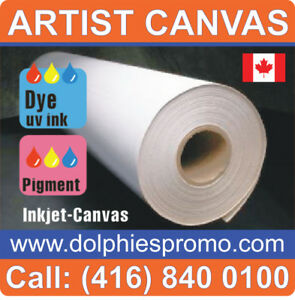 Blank Roll of Fine Quality Polyester Matte Art Canvas Supply