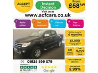 2015 BLACK FORD RANGER 2.2 TDCI LTD 4WD CREW CAB PICK UP CAR FINANCE FR 58 PW