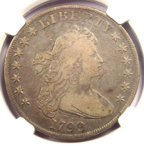 1799 Draped Bust Silver Dollar $1 Coin BB-161 - Certified NGC VF Detail - Rare!