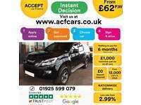 2015 BLACK ISUZU D MAX 2.5 TD BLADE 4X4 CREW CAB PICKUP CAR FINANCE FR 62 PW