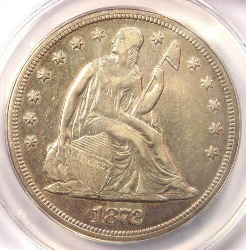 1872-S Seated Liberty Silver Dollar $1 - ANACS XF40 Details (EF) - Rare S Mint!