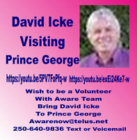 When Will David Icke Visit Prince George?