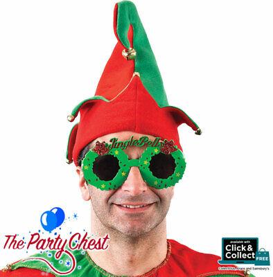 JINGLE BELLS NOVELTY CHRISTMAS GLASSES Christmas party oversize glasses (Oversized Novelty Glasses)
