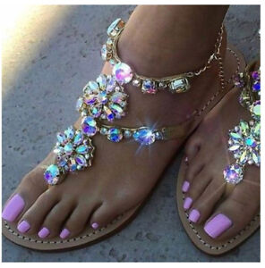 Diamond sandals woman's