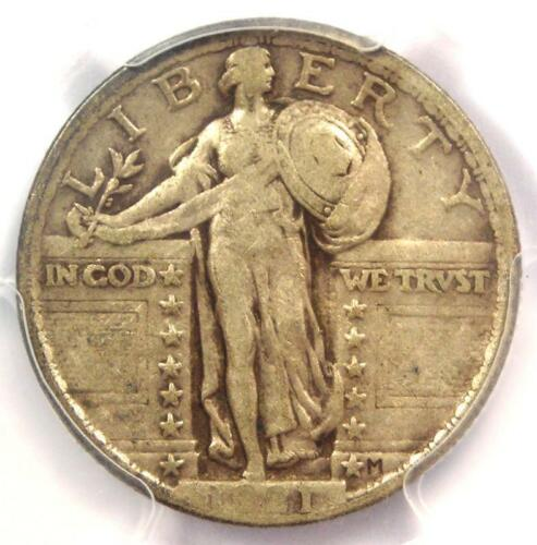 1921 Standing Liberty Quarter 25C - Certified PCGS VF30 - Rare Date - $675 Value