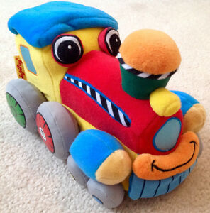 SoftPlay Story Train Rattle Plush & Soft Book - New Condition!