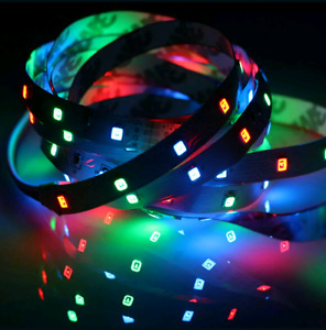 Brand new. 5meter led strip light with remote control